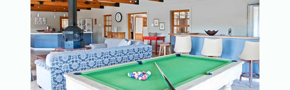 the river house pool table